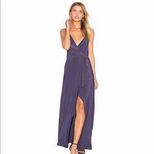 MISA Los Angeles Veronika Front Tie Wrap Dress